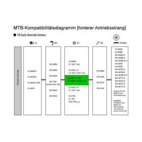 Shimano Deore XT CS-M771 - Cassette - 10 marchas